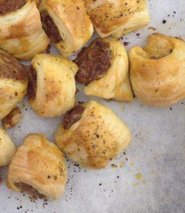 mini venison sausage rolls