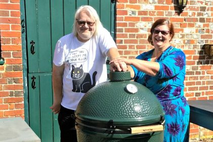 Trish and Brian and a Big Green Egg
